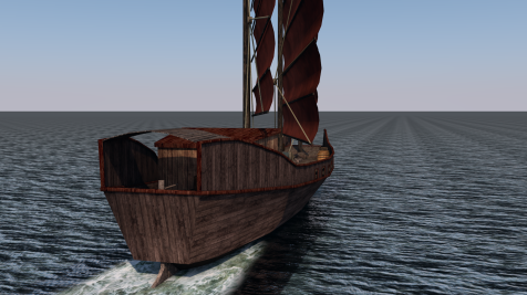 C4D Chinese Pirate Junk0031