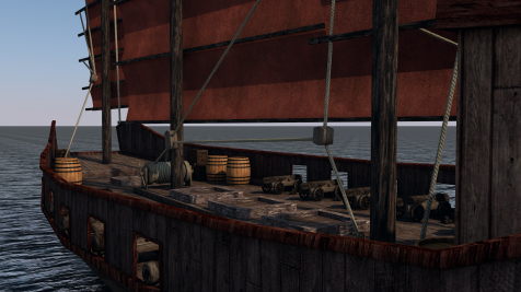 C4D Chinese Pirate Junk0081