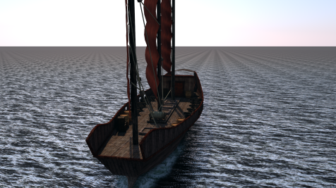 C4D Chinese Pirate Junk0172
